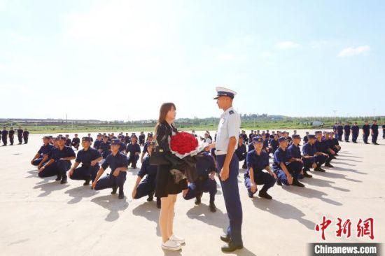 消防员王霄龙求婚仪式现场。 邯郸市消防救援支队 摄