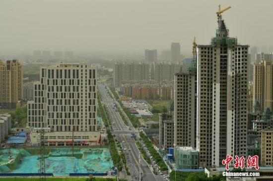 资料图:石家庄城市的一角。中新社记者 翟羽佳 摄
