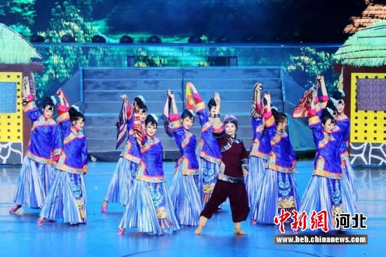 大型音乐舞蹈史画《野三坡》演出剧照。 保定市文旅局供图