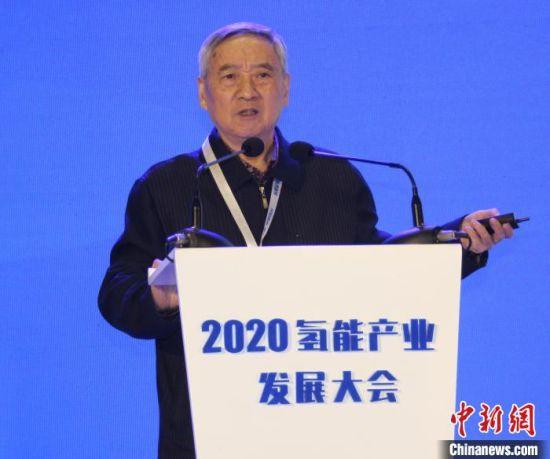 原国家发展改革委能源局局长徐锭明在作主题演讲。 徐巧明 摄