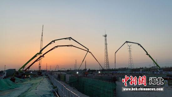 图为K1快速路(一期)项目施工现场。 韩冰 摄