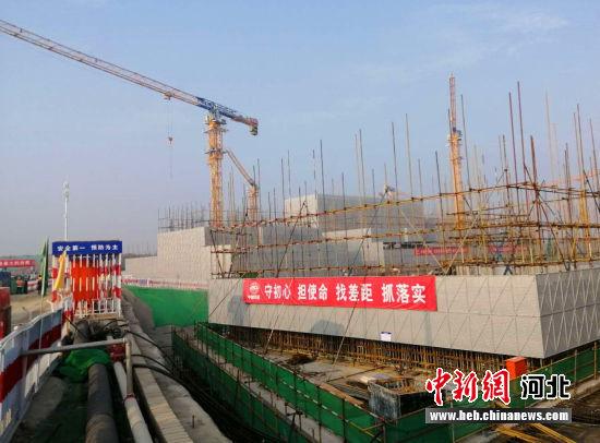 图为容东片区安置房建设现场。 韩冰 摄