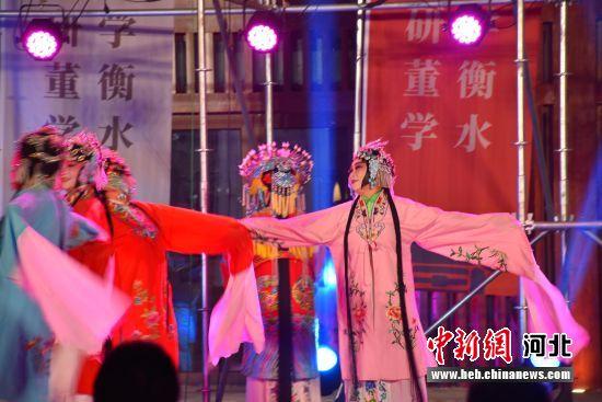 图为村晚现场表演。 齐红雨 摄
