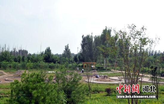 图为雄狮公园正在建设中的园区。 韩冰 摄