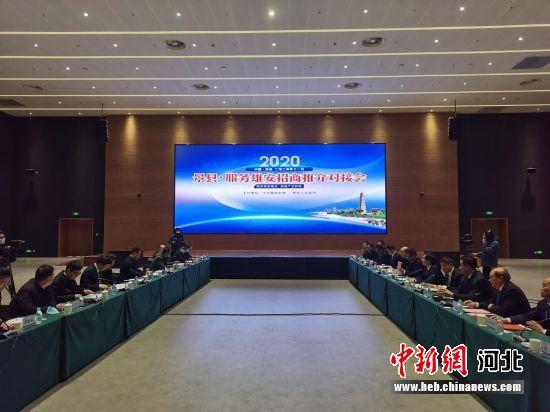 景县•服务雄安新区招商推介对接会现场。 王鹏 摄