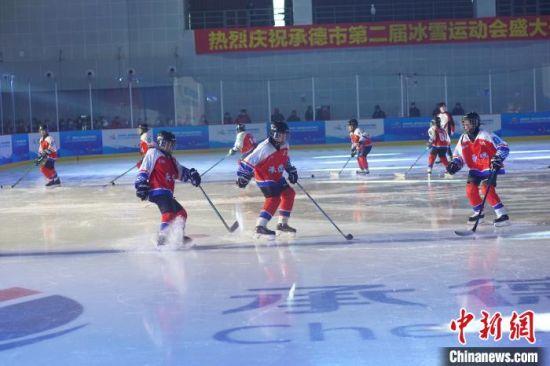 冰球表演 靳黎黎 摄