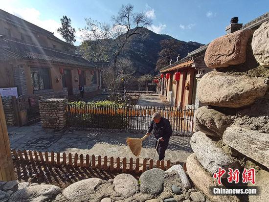 图为11月19日,太行风情民居。中新社记者 翟羽佳 摄