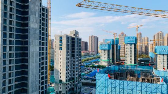 石家庄棉五社区改造项目建设提速提效。 供图