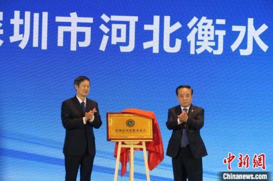 深圳市河北衡水商会揭牌仪式现场。 王鹏 摄