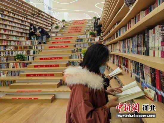 图为大厂回族自治县图书馆一角。 宋敏涛 摄