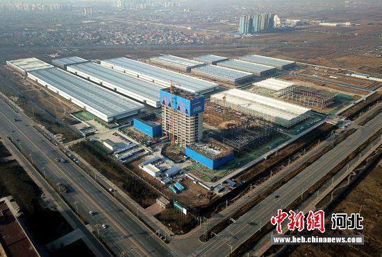 高碑店经开区正在建设的节能建筑产业园。 时爱民 摄