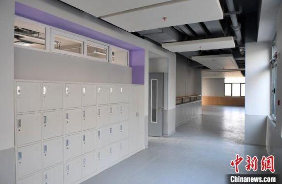 图为北京市第四中学雄安校区样板间。 韩冰 摄