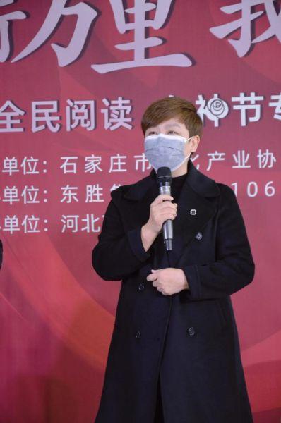 东胜集团首席品牌官兼品牌管理中心总经理罗兰发言。 供图