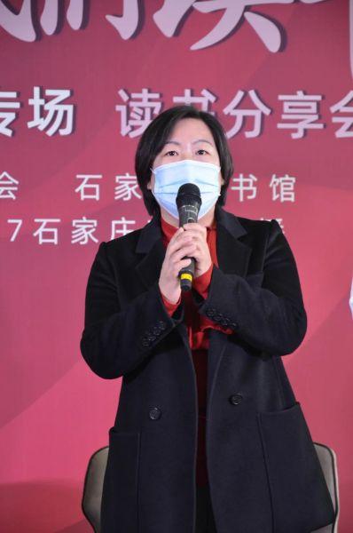 石家庄音乐广播总监胡凤发言。 供图