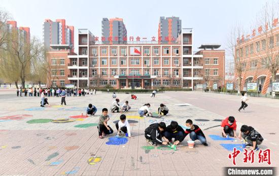 图为3月11日,北京市中关村第三小学雄安校区。 中新社记者 韩冰 摄