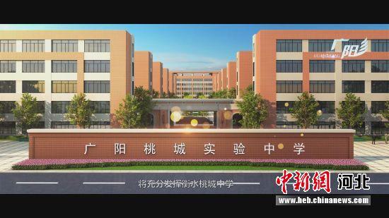 图为广阳桃城实验中学规划效果图。 资料图