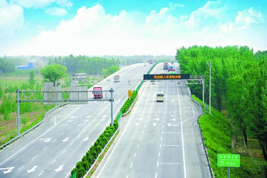 廊沧高速风景如画。