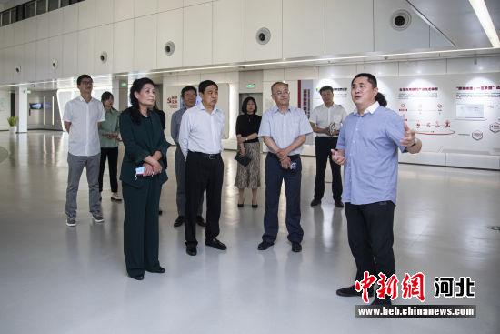 保定银行领导到保定深圳高新技术科技创新产业园调研。 保定银行供图