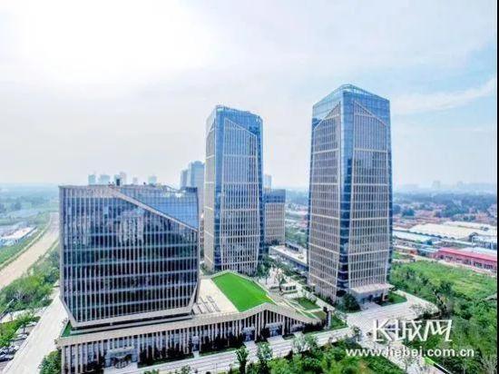 燕郊高新区蓬勃发展的科创园――燕京总部基地。于海军 摄