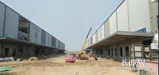 廊坊高新区新能源智能摩托车研发中心及生产车间项目建设现场。记者 祝雪娟 摄