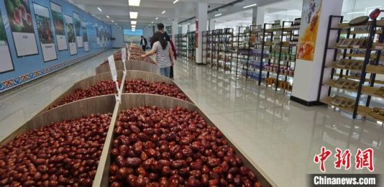 承德农产品冷链物流产业园区内新疆特产展厅 张桂芹 摄