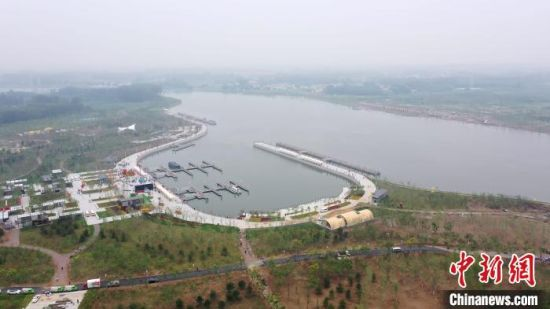 图为京杭大运河北运河廊坊段香河中心码头。 陈童 摄