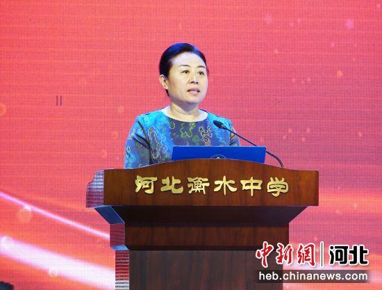 衡水市副市长崔海霞致辞。 王鹏 摄