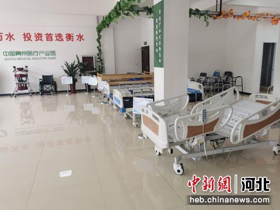 冀州区一企业产品展示。 王鹏 摄