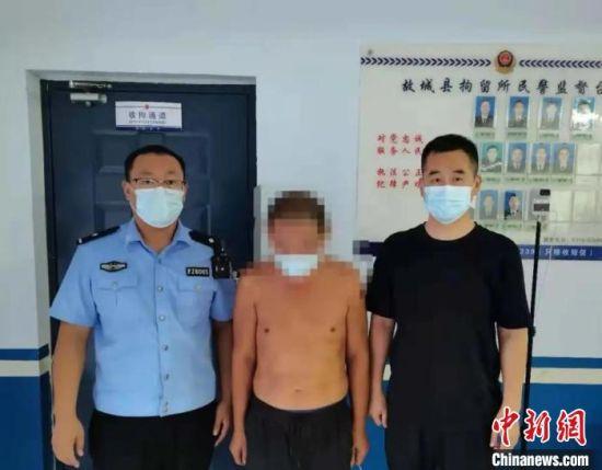 违法行为人王某被故城县公安局依法行政拘留。 衡水市公安局 供图