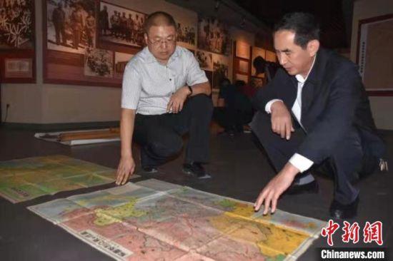 河北邯郸村民捐献4幅日本侵华军用地图——中国新闻网河北