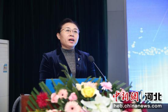 图为衡水市副市长崔海霞致辞。王鹏 摄