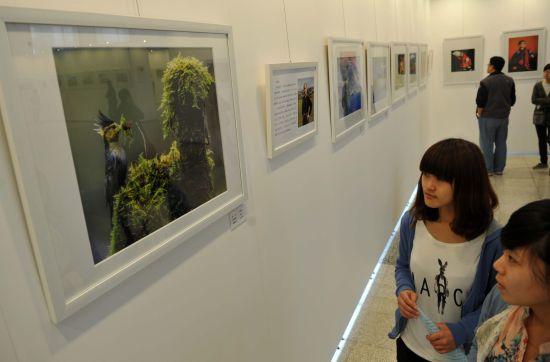 中国 作品 河北/图为源源不断的市民前来欣赏此次联展。...