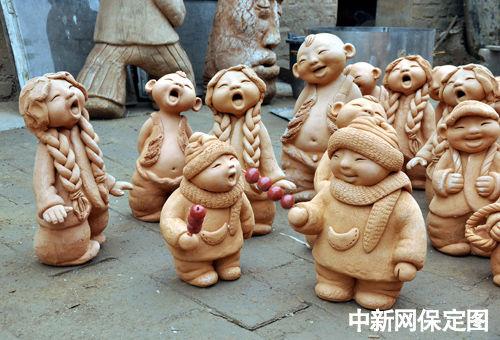 曲阳农民泥塑家马若特:作品透视着生命的本源