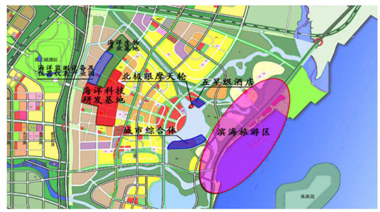 """照市城市总体规划发展的新城区.按照""""新产业、新生活、新生"""