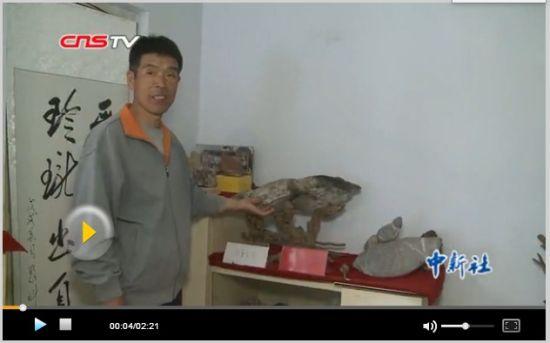 """河北农民深山""""寻宝""""十余年 梦想办奇石博物馆"""